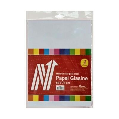 PAPEL GLASSINE 50X70 CM BLS X 3 PLIEGOS