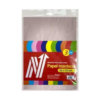 PAPEL MANTECA 50X70 CM BLS X 3 PLIEGOS