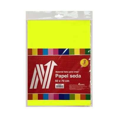 PAPEL SEDA COLOR AMARILLO BLS X 3 PLIEGOS
