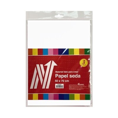 PAPEL SEDA COLOR BLANCO BLS X 3 PLIEGOS