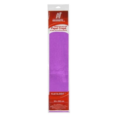 PAPEL CREPE COLOR LILA X 1 PLIEGO