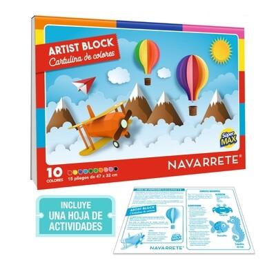 BLOCK CARTULINA DE COLORES SUPERMAX 15 HJS