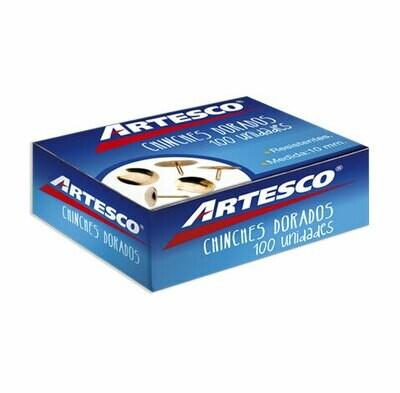 CHINCHES DORADOS CJX100 10MM ARTESCO