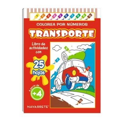COLECCIÓN COLOREA POR NÚMERO - TRANSPORTE