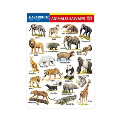 LÁMINA MURAL 50 X 70 CM ANIMALES SALVAJES
