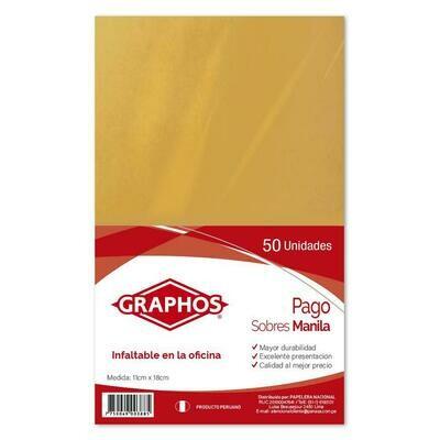 SOBRE MANILA PAGO(PAQX50)-GRAPHOS