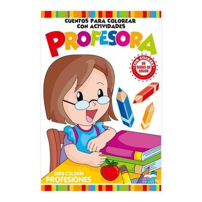 CUENTO COLORÍN  A3 SERIE PROFESIONES - PROFESORA