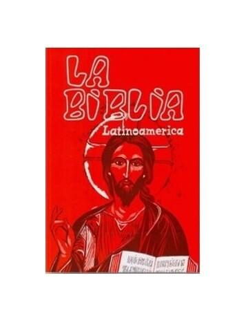 BIBLIA LATINOAMERICANA RUSTICA SIMPLE ROJA