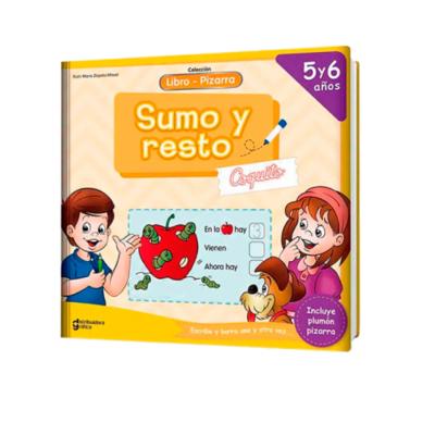 LIBRO PIZARRA SUMO Y RESTO COQUITO 5 Y 6 AÑOS