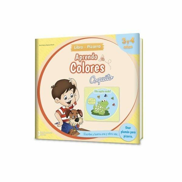 LIBRO PIZARRA APRENDO COLORES 3 Y 4 AÑOS