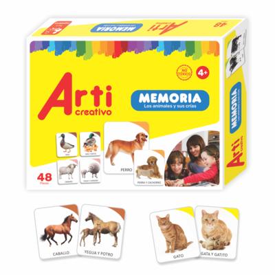MEMORIA X 48 PZAS LOS ANIMALES Y SUS CRIAS TACJUE100