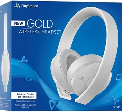 HEADSET GOLD WIRELESS STEREO HEADSET WHITE SONY FOR PS5 / PS4 (usagé)