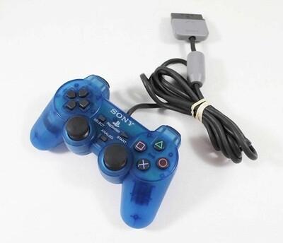 CONTROLLER CLEAR BLUE SONY (WITH JOYSTICKS) (usagé)