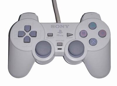 CONTROLLER WHITE SONY (WITH JOYSTICKS) (usagé)