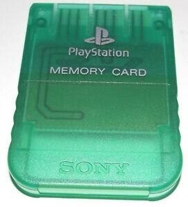 MEMORY CARD CLEAR GREEN SONY (usagé)