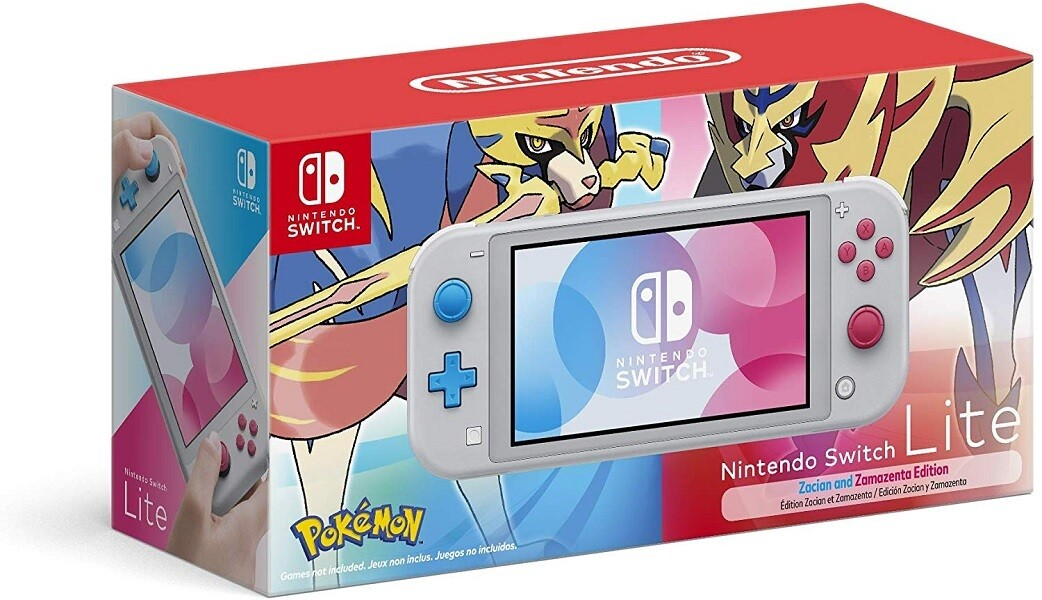 NINTENDO SWITCH LITE ZACIAN & ZAMAZENTA LIMITED EDITION
