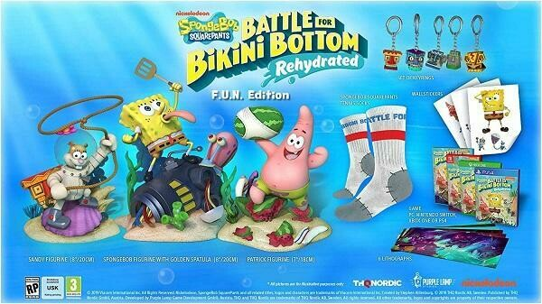 SPONGEBOB SQUAREPANTS BATTLE FOR BIKINI BOTTOM REHYDRATED FUN EDITION (usagé)