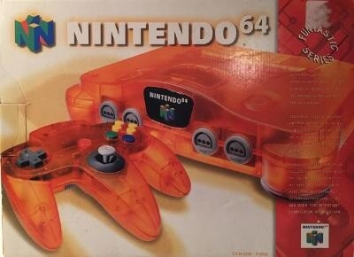 NINTENDO 64 FIRE ORANGE (COMPLETE IN BOX) (usagé)