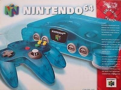 NINTENDO 64 ICE BLUE (COMPLETE IN BOX) (usagé)