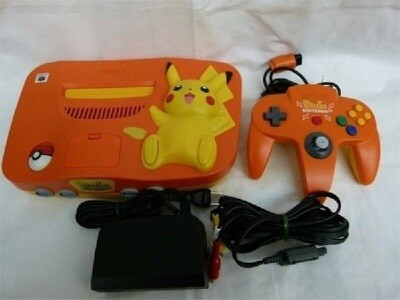 NINTENDO 64 ORANGE / PIKACHU (USA/JAP) (usagé)