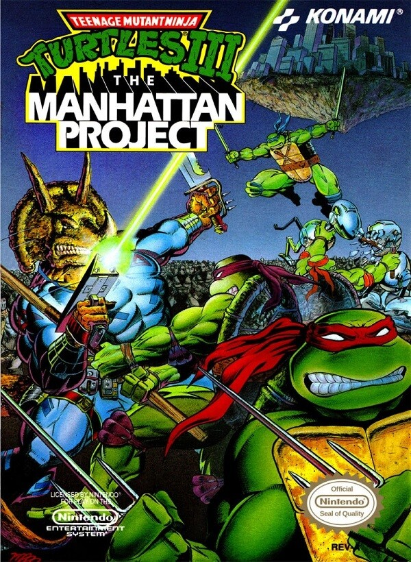 TEENAGE MUTANT NINJA TURTLES III THE MANHATTAN PROJECT