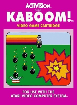 ATARI 2600 KABOOM INTERNATIONAL EDITION (COMPLETE IN BOX) (usagé)