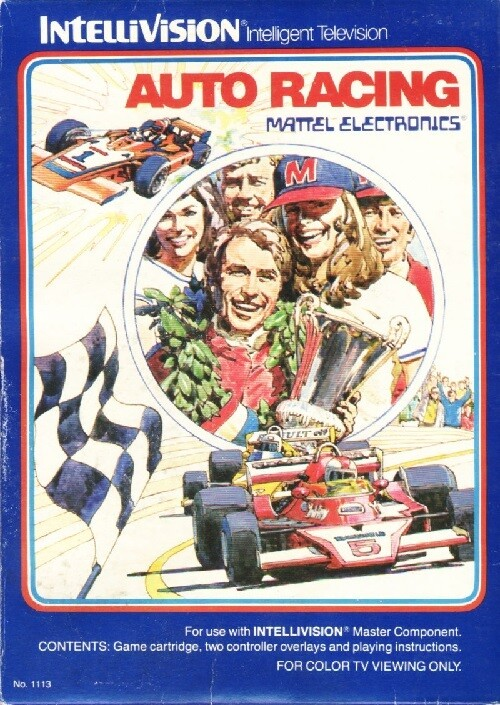 INTELLIVISION AUTO RACING (COMPLETE IN BOX)
