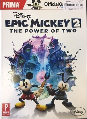HINT BOOK EPIC MICKEY 2 THE POWER OF TWO (usagé)