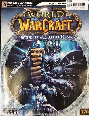 HINT BOOK WORLD OF WARCRAFT WRATH OF THE LICH KING (usagé)
