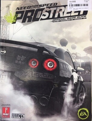 HINT BOOK NEED FOR SPEED PROSTREET (usagé)
