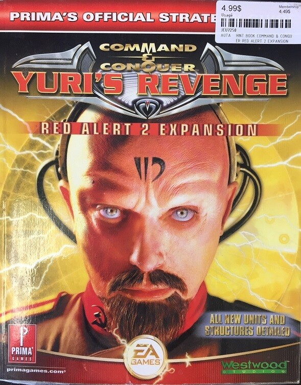 HINT BOOK COMMAND & CONQUER RED ALERT 2 EXPANSION
