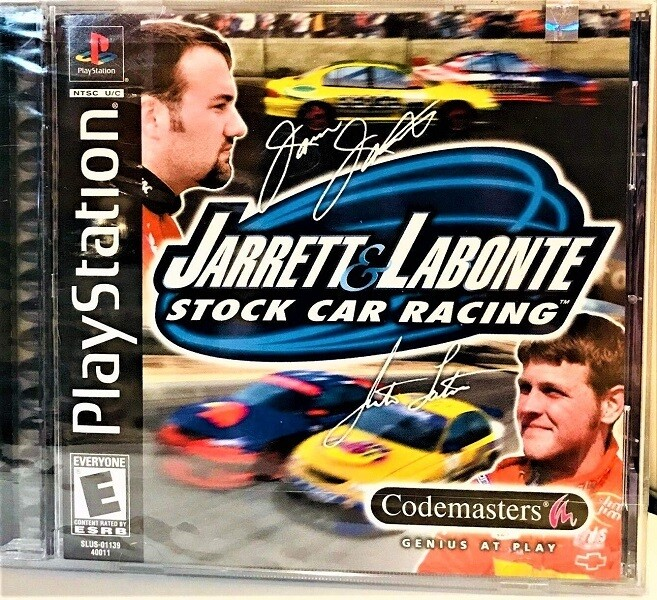 JARRETT AND LABONTE STOCK CAR RACING (COMPLETE IN BOX)