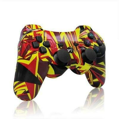 CONTROLLER WIRELESS YELLOW & RED ABSTRACT JOBBER