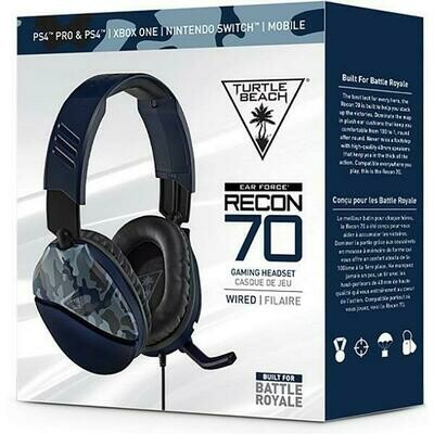 HEADSET TURTLE BEACH EAR FORCE RECON 70 BLUE CAMO FOR PS5 / PS4 / XSX / XONE / SWITCH
