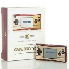 GAMEBOY MICRO 20TH ANNIVERSARY EDITION (COMPLETE IN BOX) (usagé)