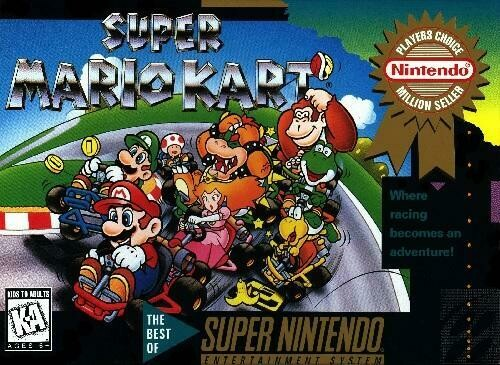SUPER MARIO KART PLAYER'S CHOICE (COMPLETE IN BOX)