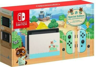 NINTENDO SWITCH MODEL 2 ANIMAL CROSSING SPECIAL EDITION