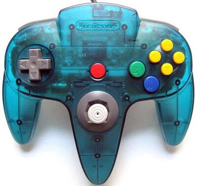 CONTROLLER ICE BLUE NINTENDO (usagé)