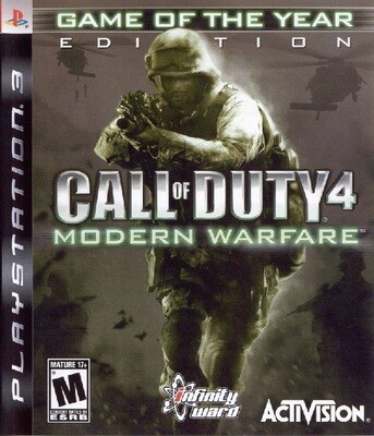 CALL OF DUTY 4 MODERN WARFARE GAME OF THE YEAR (COMPLETE IN BOX) (usagé)
