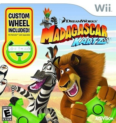 MADAGASCAR KARTZ WITH WHEEL (COMPLETE IN BOX) (usagé)