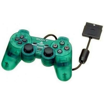 CONTROLLER CLEAR GREEN SONY (WITH JOYSTICK) (usagé)