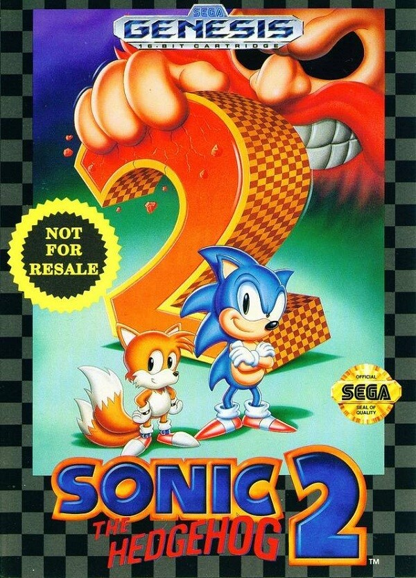 SONIC THE HEDGEHOG 2 NOT FOR RESALE (COMPLETE IN BOX)