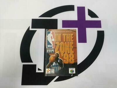 N64 NBA IN THE ZONE '98 INSTRUCTION BOOKLET ENGLISH (usagé)