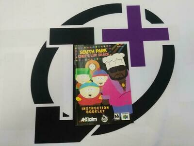 N64 SOUTH PARK CHEF'S LUV SHACK INSTRUCTION BOOKLET ENGLISH (usagé)