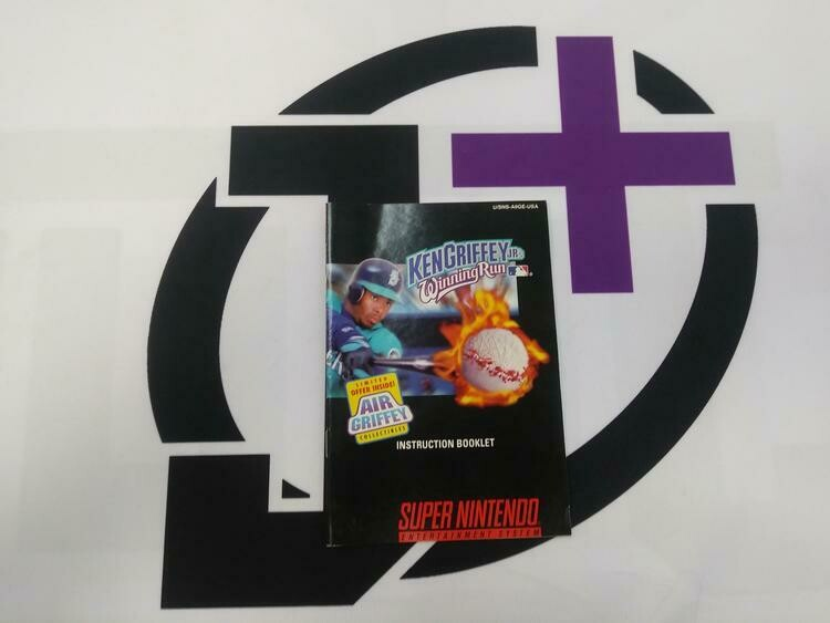 SNES KEN GRIFFEY JR'S WINNING RUN INSTRUCTION BOOKLET ENGLISH