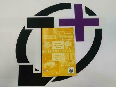N64 NAMCO MUSEUM 64 INSTRUCTION BOOKLET ENGLISH (usagé)