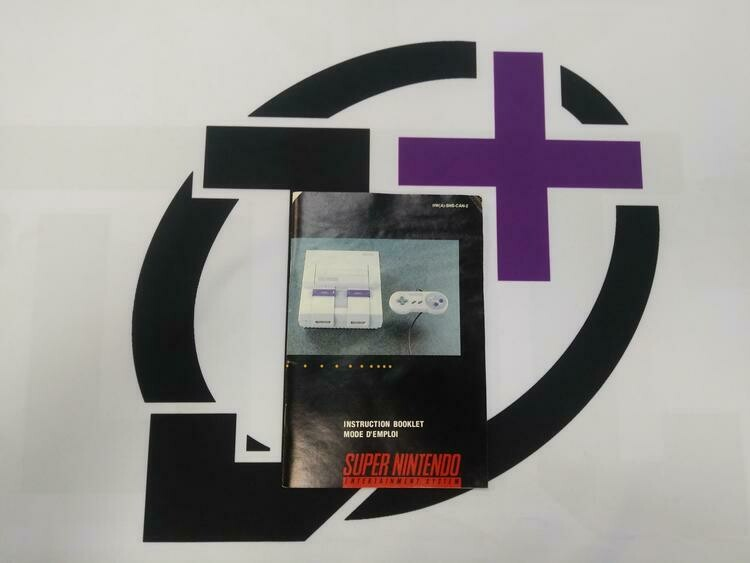 SNES SUPER NINTENDO SYSTEM INSTRUCTION BOOKLET BILINGUAL
