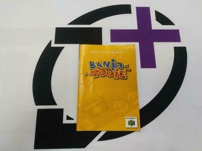 N64 BANJO-TOOIE INSTRUCTION BOOKLET BILINGUAL (usagé)