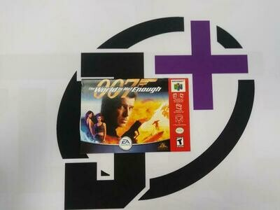 N64 007 THE WORLD IS NOT ENOUGH INSTRUCTION BOOKLET BILINGUAL (usagé)