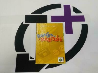 N64 BANJO-KAZOOIE INSTRUCTION BOOKLET BILINGUAL (usagé)
